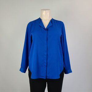 Lord & Taylor Blue Long Sleeve Top Size 1X